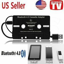 Bluetooth Stereo Audio Cassette Adapter for iPhone/Android/Smartphone s in Black