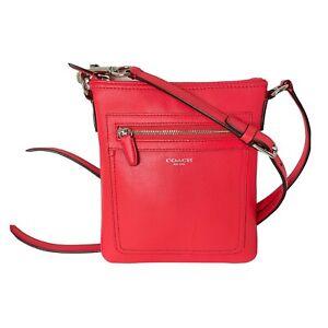 Coach New York Legacy - Leather Vermilion Swingpack Crossbody Swing Bag Purse
