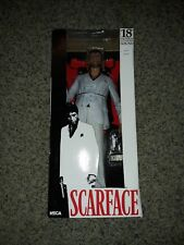 "NEW IN BOX TONY MONTANA SCARFACE WHITE SUIT 18"" ACTION FIGURE NECA reel toys"