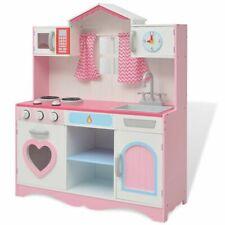 Vidaxl cucina Giocattolo Giochi Gioco Bimbe in legno 82x30x100 cm Rosa e bianca