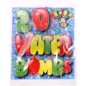 WATER BOMBS BALLOONS OUTDOOR SUMMER FUN NEON MULTI COLOURED PARTY BAG FILLERS