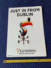 (L@K) Guinness Beer With Tucan Bird Tin Sign Game Room Man Cave New