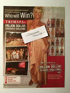 Anna Nicole Smith In Gold Dress For Trimspa Products 2005 Print Ad