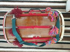 More details for  dhol dholki oak wood finish solid strong dhol rarely used bargain buy