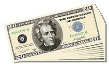 Poker Night / Casino Night Novelty $20 Bill - Set of 10 with 1 Christopher Colum