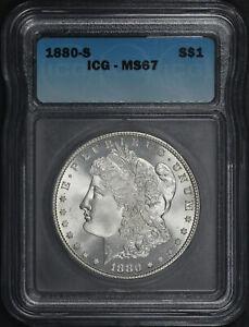 1880-S Morgan Dollar ICG MS-67