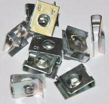 10x Blechmuttern aus Stahl (für Blechschrauben 4,8 mm) Bef.-Dicke 3-4mm verzinkt