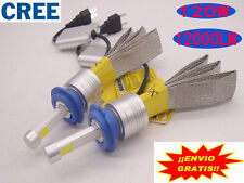 2x 120W 12000LM H4 H7 H11 CREE LED Faros Coche Bombilla Lampara Kit 6000K Blanco