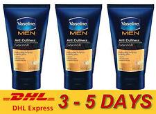 3 x Vaseline MEN Anti-Dullness Face Scrub Micro Beads Brighter Looking Skin 100g