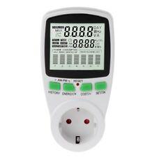 LCD EU Digital Meter Voltage Power Wattmeter Electricity Consumption Analyzer