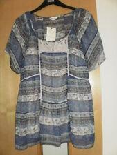 M & S Indigo Blouse & Vest BNWT Size 14