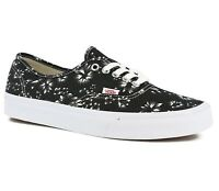 Vans Authentic (Indigo) Black Denim/True White Men's Skate Shoes SIZE 11.5