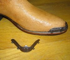 New Copper colored Cowboy Western Boot Tips Toe and Heel Plates Round R toe