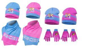 Official Disney Princess Winter Hat Gloves Hat Scarf Sets Kids Age 1-5 Yrs