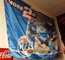 """Kurt Busch #2 Miller Lite """"More 2 It"""" Racing Nascar Banner 2008"""