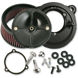 S&S Cycle Air Cleaner Stealth for 58mm Throttle Body (Black) 170-0164