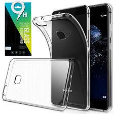 Huawei P10 Silikon Case Tasche Transparent Hülle + Panzerglas 9H Schutzfolie