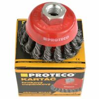 Rotary Twist Knot Cup Steel Wire Brush Crimp Bevel 65 mm Angle Grinder PROTECO