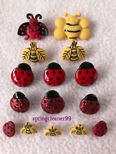 DRESS IT UP BUTTONS ~ BUGS & BEES ~  SEWING ~CRAFTS