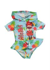 Size 1 / 12-18 Months Girls Disney Minnie Mouse Hooded Swimmers Swimsuit Rashie