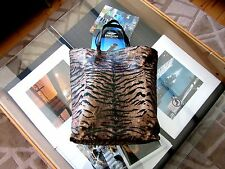 Brand New Roberto Cavalli Ladies Animal Tiger Print Shopper Tote Bag
