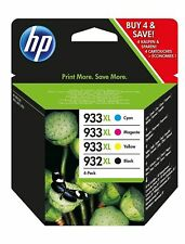 Set of 4 Genuine HP 932XL 933XL Inks OfficeJet 6100,6600,6700,7610,7612,C2P42AE