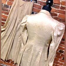 1900s Edwardian Walking Suit - Ecru Raw Silk