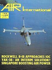 Air International V31 N2 Rockwell B1B Mitsubishi Ki-21 Soviet Yak-38 Navy Me 309