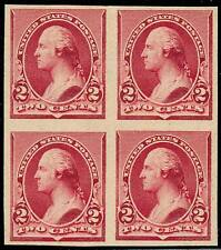 #219DP5 3¢ LAKE XF BLOCK OF 4 PLATE PROOF ON INDIA BT318