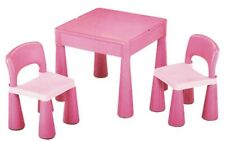 NEW Super Kids Pink Table And Chairs With Block Top from Mr Toys