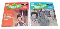Lot of 2 Sesame Street 45 rpm records 1976
