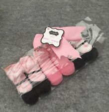 Pack of 3 Newborn Baby Girl Ballerina Crown Sock Booties in a gift box! 0-12mos
