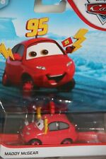 """DISNEY PIXAR CARS 2 """"MADDY McGEAR""""  NEW IN PACKAGE, SHIP WORLDWIDE"""
