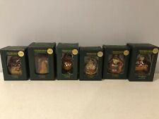 Longaberger Boyd's Bear Resin Christmas Tree Ornaments - 6 Ornaments!