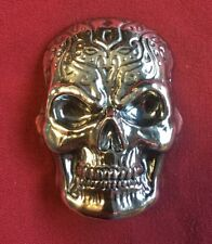10 oz 999 Fine Silver Bar - Yeager's Poured Silver - YPS - Celtic Skull - Patina