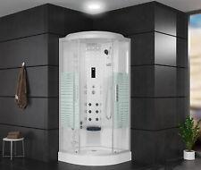 Duschkabine Arielle II Komplett Fertigdusche Echtglas 90/100cm Bluetooth Weiß