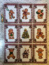 Set of 9 Cards~Christmas Gingerbread Kids~Pocket Pen Pal Letter Kit/Sleeve~#145N
