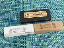 Antique LAPPORT INDIGA German Sharpening Stone IN BOX Razor Knife Barber Shaving