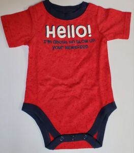 Baby Hello World I'm About To Blow Up Your News 1 PC Size 0 - 12 Month Assorted