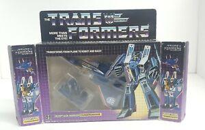 Thundercracker 100% Complete w. BOX FIGURE 1985 Vintage Hasbro G1 Transformers