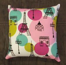 """Beautiful Handmade Paris Eiffel Tower Accent - Throw Pillow 10"""" x 10"""""""