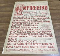 Vintage 1916 EMPIRELAND Selection. Arranged by R.S.Stoddon