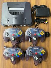 N64 - Nintendo 64 Charcoal Console Complete w/ cables Choose up to 4 Controllers