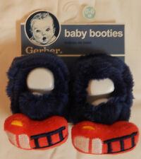 Gerber Newborn Baby Boy Velboa Non-Skid Bootie Slippers