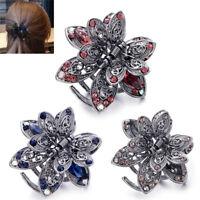 Crystal Hair Clip Rhinestone Hairpin Claw Clamp Wedding Women Hair Accessory TB