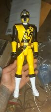 "Power Rangers Noja Steel Yellow Ranger 12"" Figure Bandai 2016"