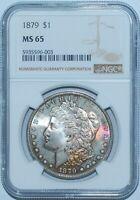 1879 P NGC MS65 Morgan Silver Dollar Great Color