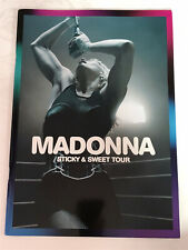 **MADONNA STICKY & SWEET TOUR BOOK / PROGRAMME 2008 - LIKE NEW CONDITION**