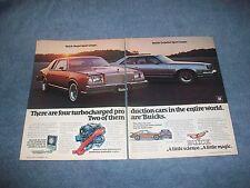 1979 Buick Regal LeSabre Sport Coupe Vintage Turbo Ad 2pg