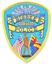 POLICE BISBEE ARIZONA  Etats Unis écusson à coudre brodé 12 x 9.5 cm